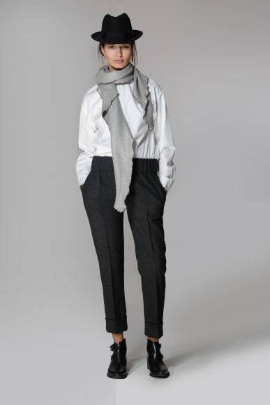 004 SALVADORE TROUSERS 005 DIAGONALE SCARF
